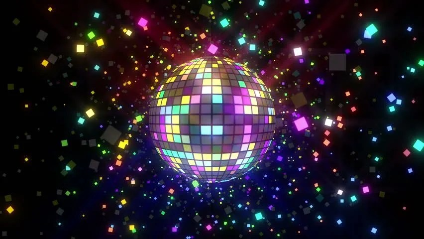 3d Illusion Wallpaper Download Neon Disco Ball Seamless Vj Loop Animation For Music
