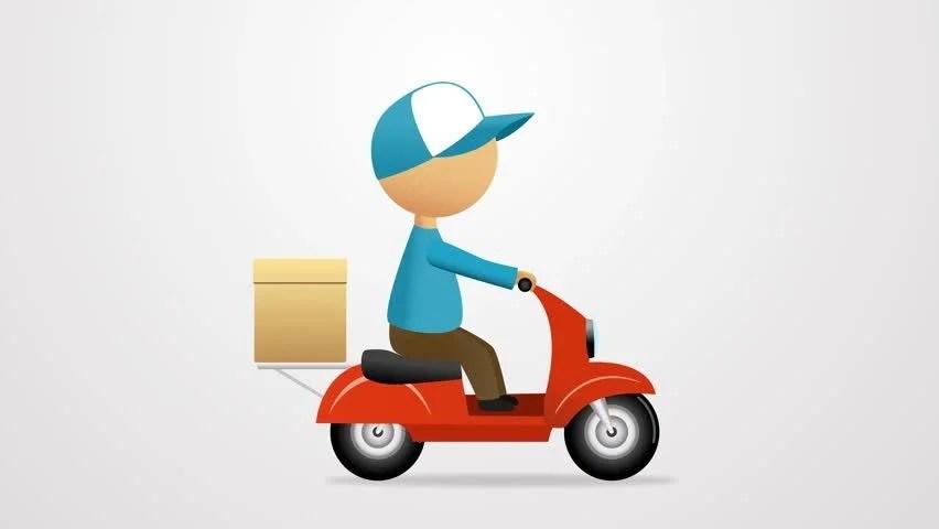 Man Riding A Bike Cartoon Young Man Riding A Scooter