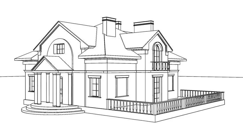 Drawing Of A House For Sale Stock Footage Video 3457073