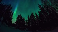 Aurora Borealis Dancing Upon a Stock Footage Video (100% ...