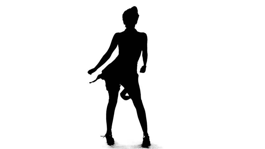 Silhouette of Sexy Salsa Woman Stock Footage Video (100%