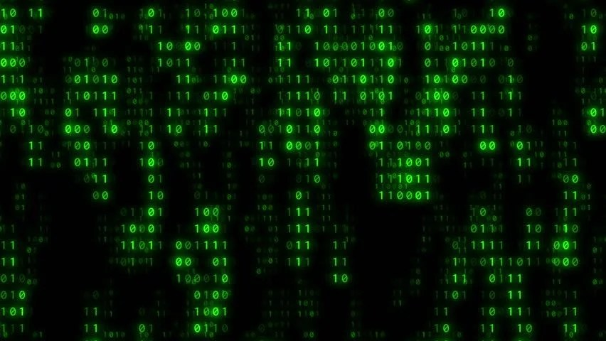 Matrix Falling Code Wallpaper Download Stock Video Of Matrix Of Green Monochrome Binary Ones