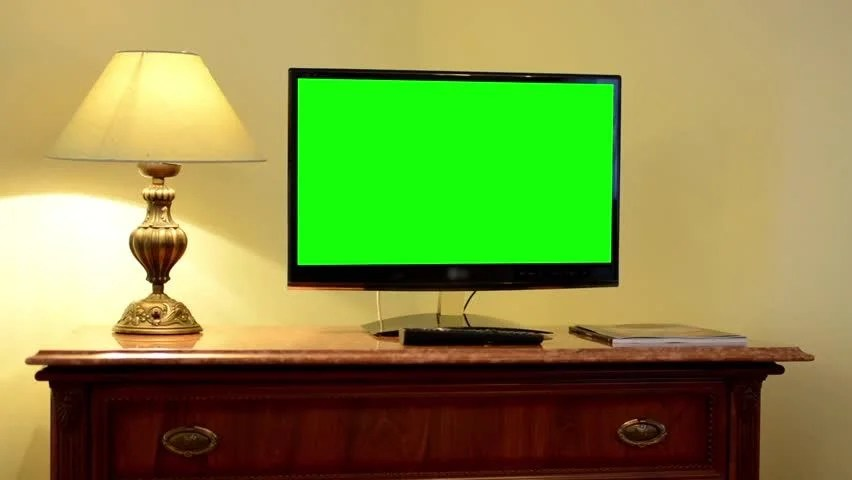 TVtelevision  Green Screen  Room  On The Wall Stock Footage Video 7724104  Shutterstock