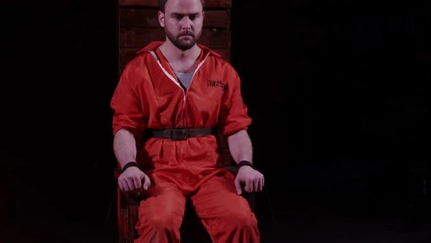 death by electric chair video fishing cheap capital punishment stock footage 100 male prisoner sitting in awaiting sentence