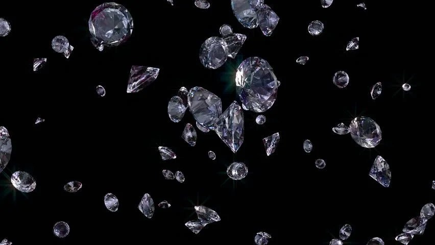 3d Snow Falling Wallpaper Seamless Falling Diamonds With Alpha At The End Stock