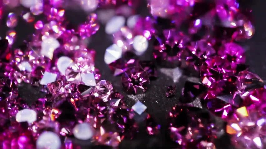 3d Depth Purple Abstract Wallpapers Big Diamonds With Many Violet Small One Rotating Over Dark