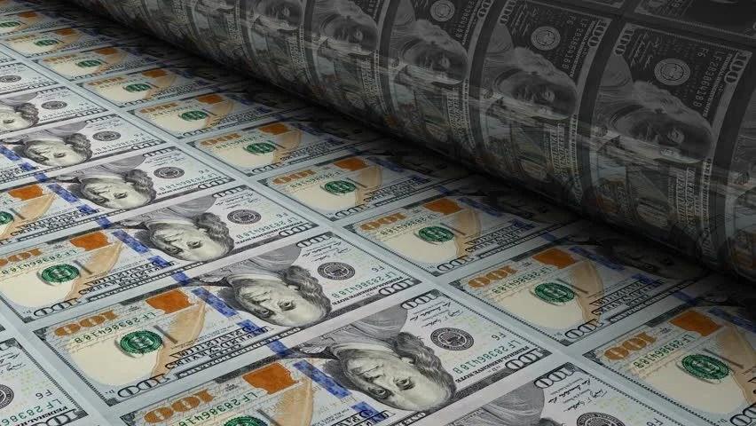 Money Falling Wallpaper Us Mint Printing New 100 Stock Footage Video 100