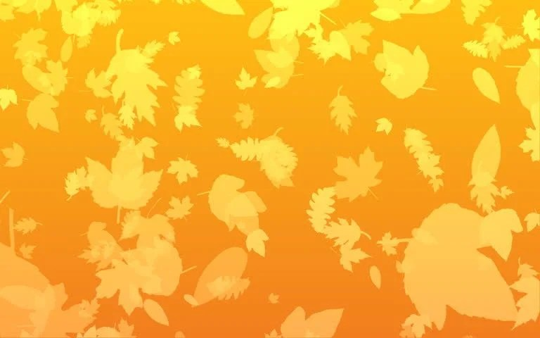 Fall Leaves Watercolor Wallpaper Orange Autumn Leaves Fall To Stock Footage Video 100