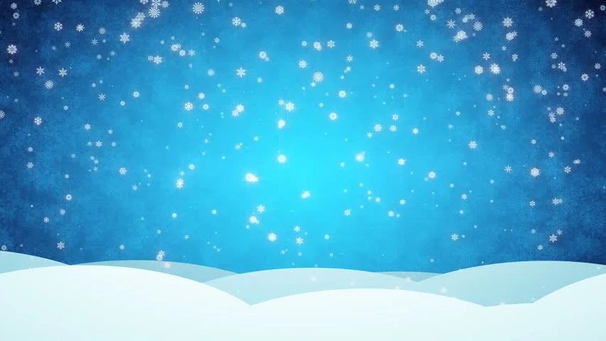 Falling Snow Animated Wallpaper Snowy Blue Animated Background Merry Stock Footage Video
