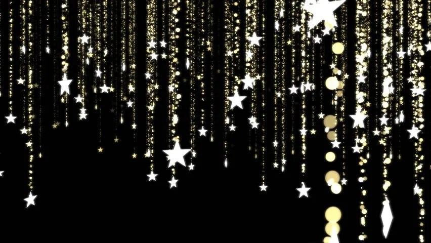 Falling Gold Sparkles Wallpaper Falling Star Animation Loop Stock Footage Video 7579246