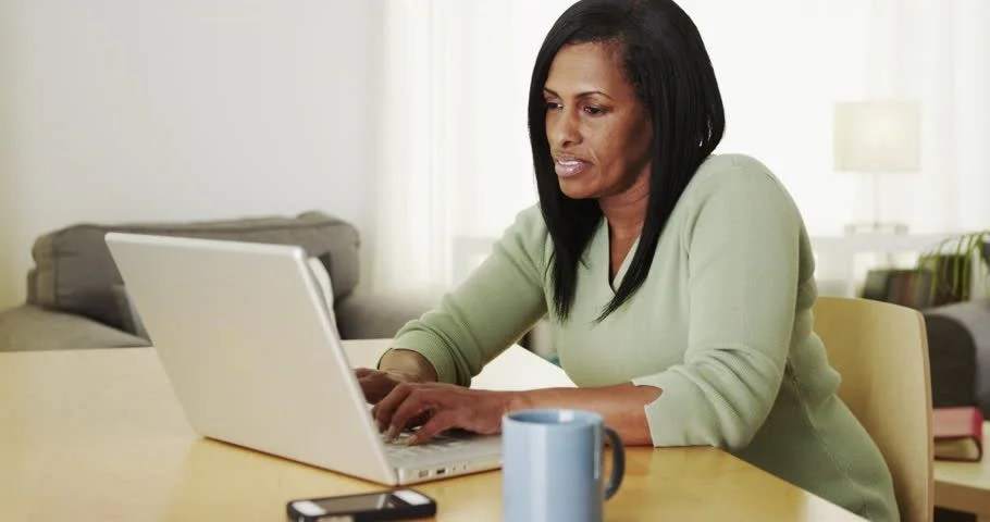 Image result for images of black woman working on a laptop