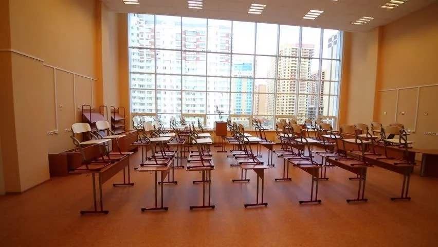 chair upside down on wall stool online new modern school classroom with chairs desks bid windows stock footage video 10018199 ...