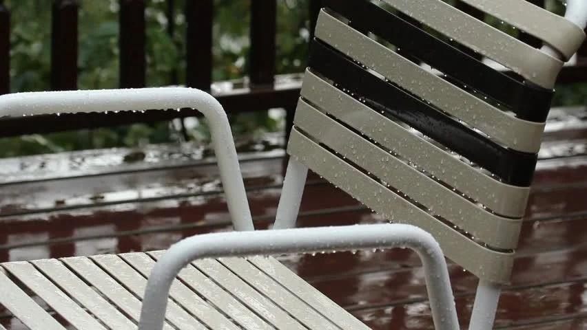chair photo frame hd posture care company sa hd00 07wet vinyl deck raindrops on and webbing wet rainstorm