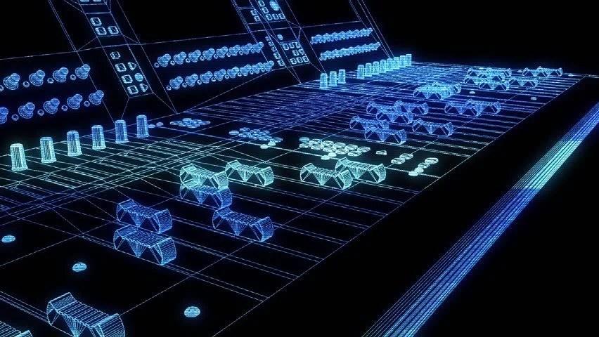 3d Hologram Hd Wallpaper Abstract Animated Script Programming Code On Desktop