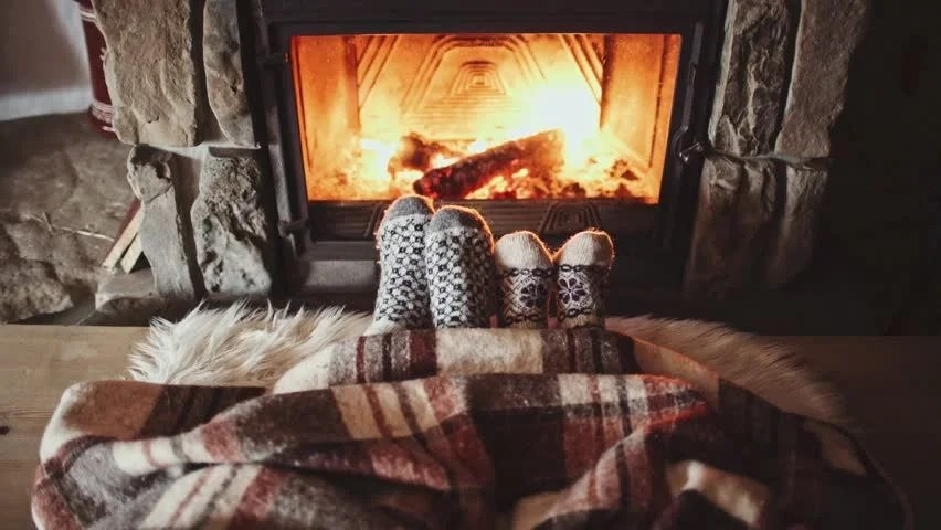 Image result for cosy socks fireplace