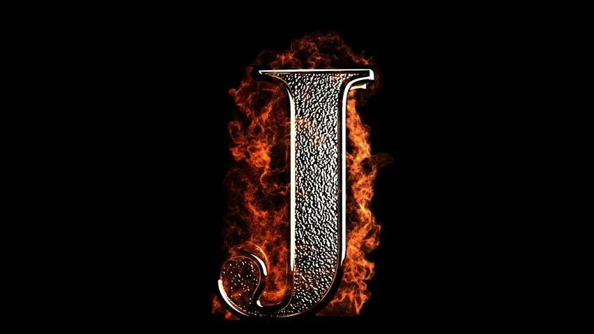 Letter S 3d Wallpaper Fiery Letter J Burning In Loop With Particles Stock