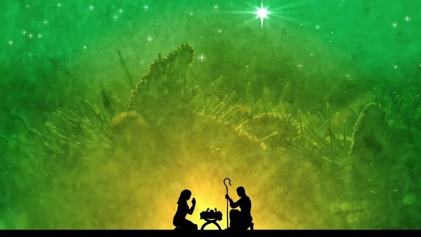 Baby Live Wallpaper Hd Green Christmas Advent Motion Background Stock Footage