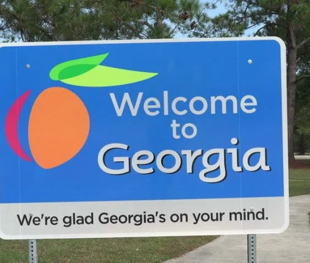 Kingsland Georgia Usa Zoom In To Welcome To Georgia Sign The State Was Established In 1733 The Last Of The Original Thirteen Colonies And Is Known As