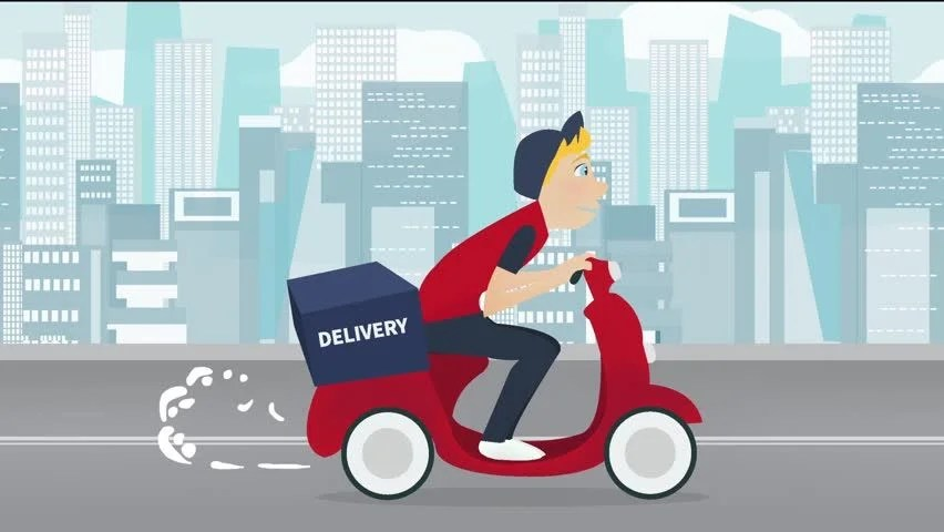 Delivery Service Footage Cartoon Young Stock Footage