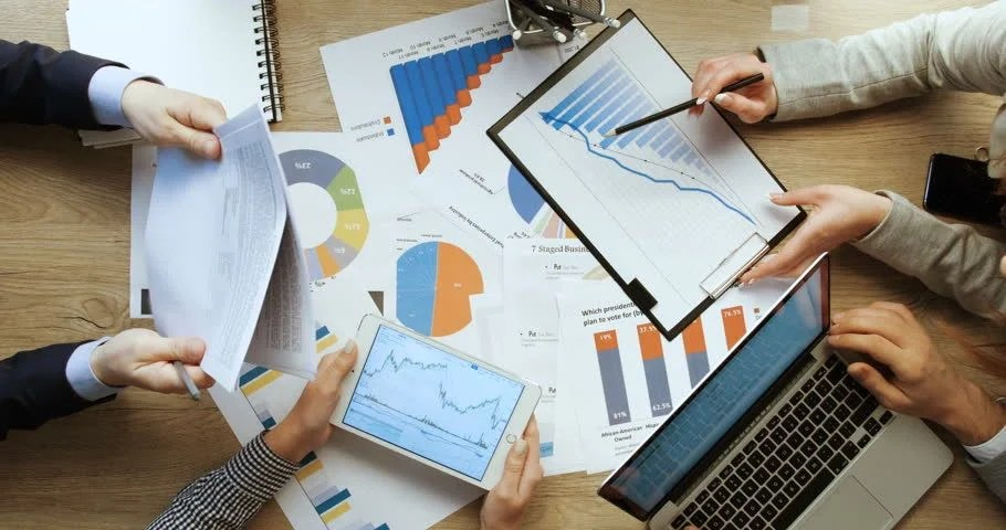 Laptop and Charts and Graphs image  Free stock photo