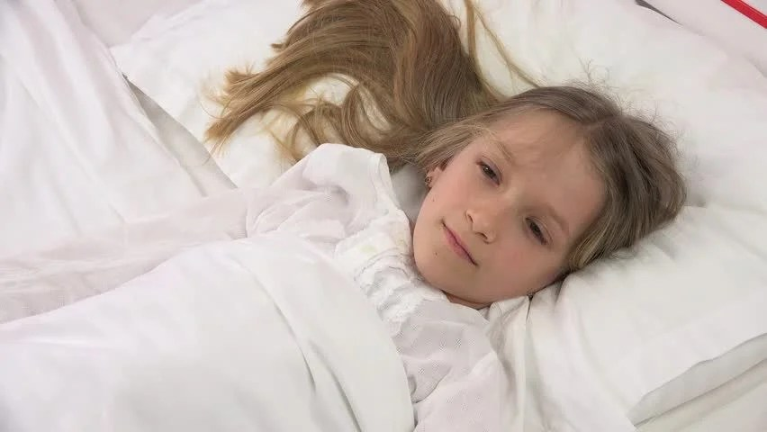 Health Sleep And Beauty Happy Children Concept Pre Teen Girl Sleeping At Home Stock Footage