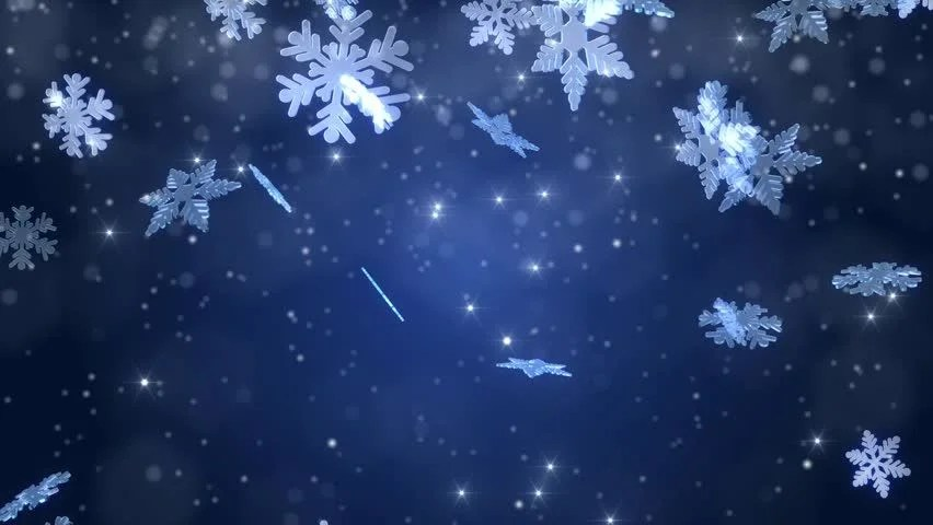 Free Christmas Falling Snow Wallpaper Winter Wonderland Magic Snowflakes Merry Stock Footage