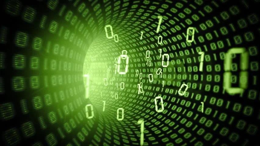 Matrix Tunneldata Flowseamless Loop Stock Footage Video