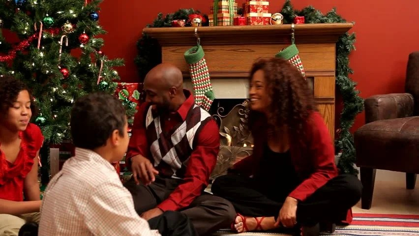 Stock Video Of Family Celebrating Christmas 4551656