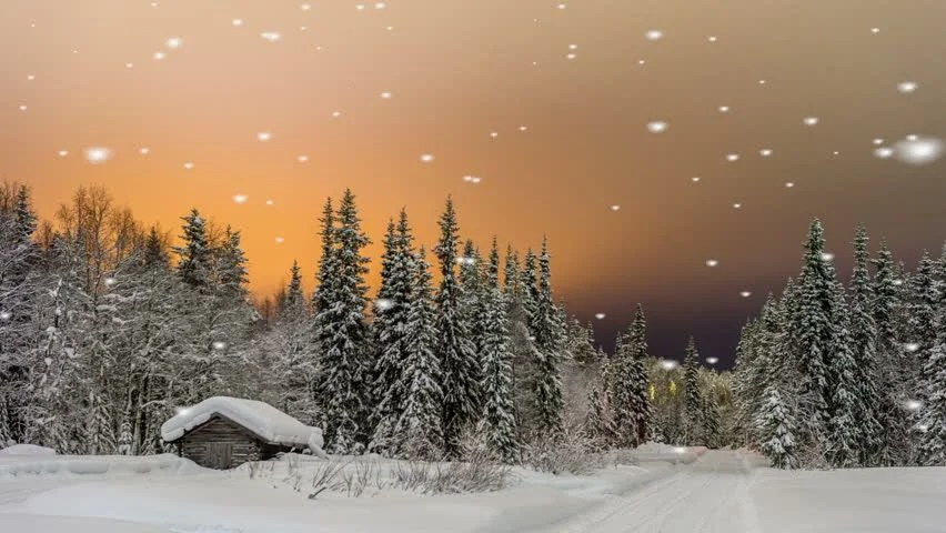 Christmas Fireplace Wallpaper Animated Falling Snow On A Quaint Stock Footage Video 100 Royalty