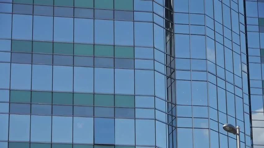 closeup skyscraper glass windows business buildings district global commerce gh hd stock