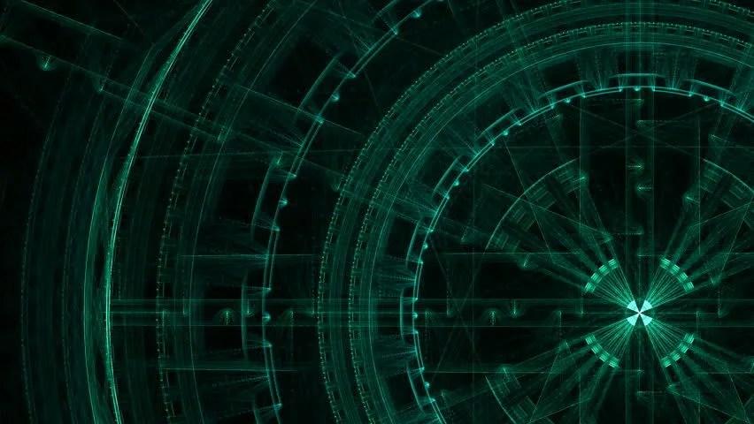 Science Fiction Matrixlike Blue Technology Light Grid In