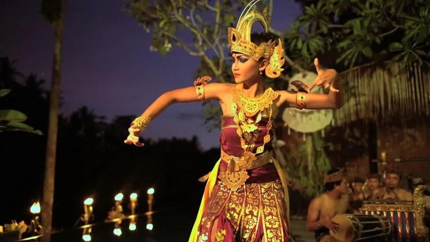 balinese female artistic dancer