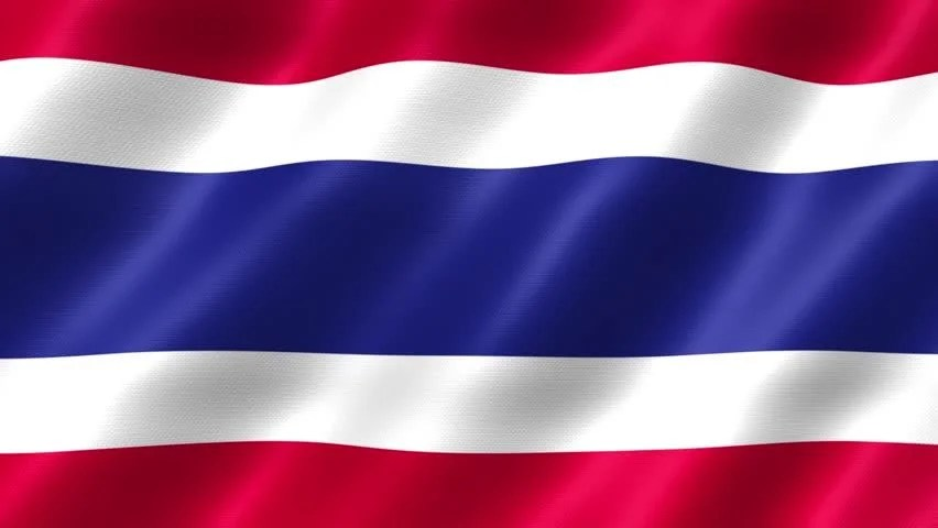 Thailand Flag Waving Stock Footage Video 100 Royalty