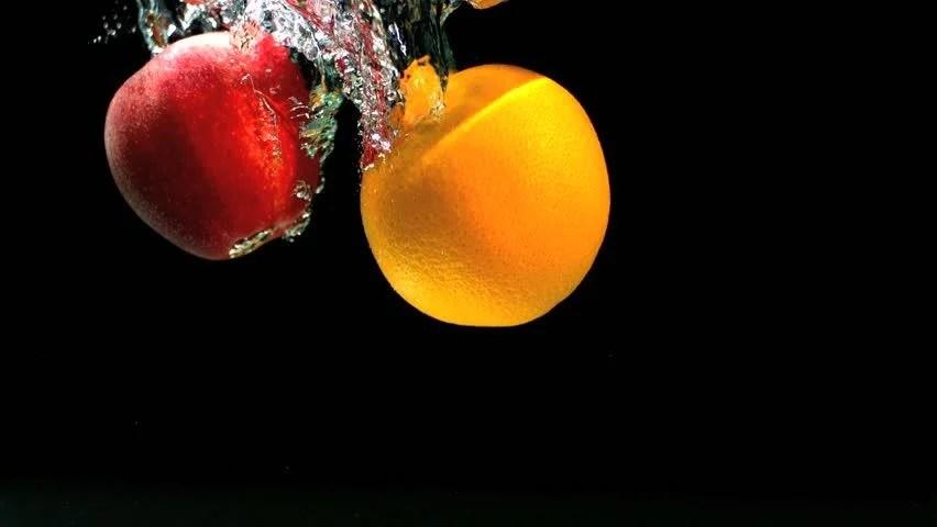 Falling Water Wallpaper 1080 Red Apple In Super Slow Motion Falling In The Water