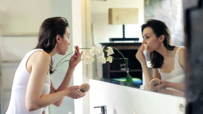 Woman Applying Makeup, Powder On Stock Footage Video (100% Royalty-free) 6746737   Shutterstock