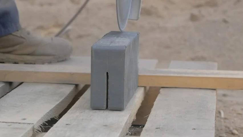 Cutting Cement Block