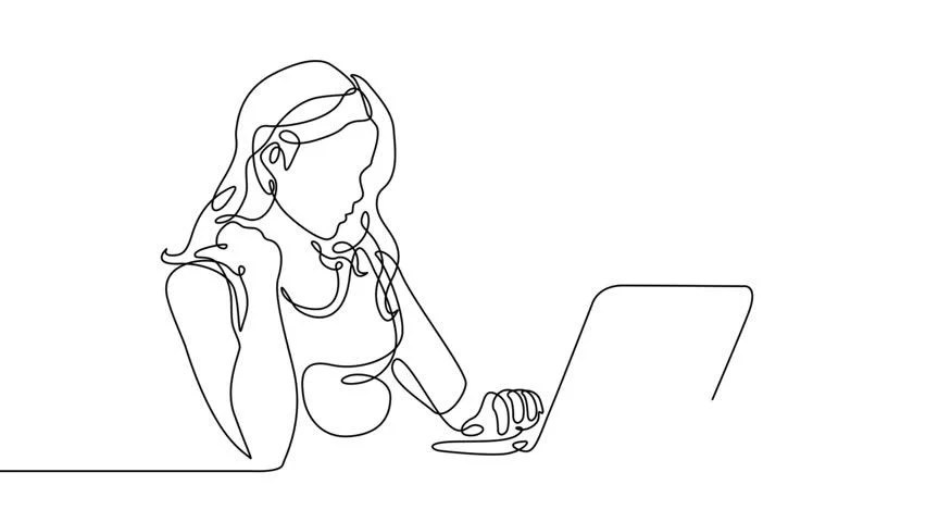 Self Drawing Simple Animation of Stock Footage Video (100%