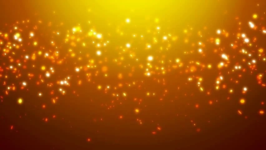 Fall Lights Wallpaper Loopable Orange Glitter And Sparkles Stock Footage Video