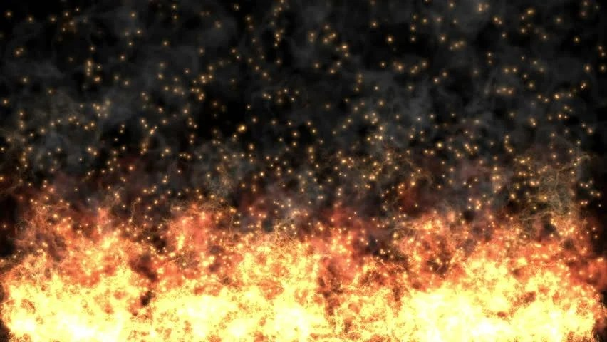 Powerful Fire Burning Background  Full HD Computer Generated Fire Particles Motion Background
