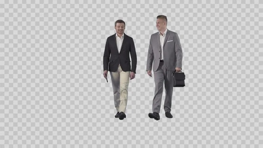 Two Men in Business Clothes Stock Footage Video (100%