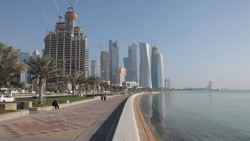 Corniche In Doha Qatar Stock Footage Video 100 Royalty