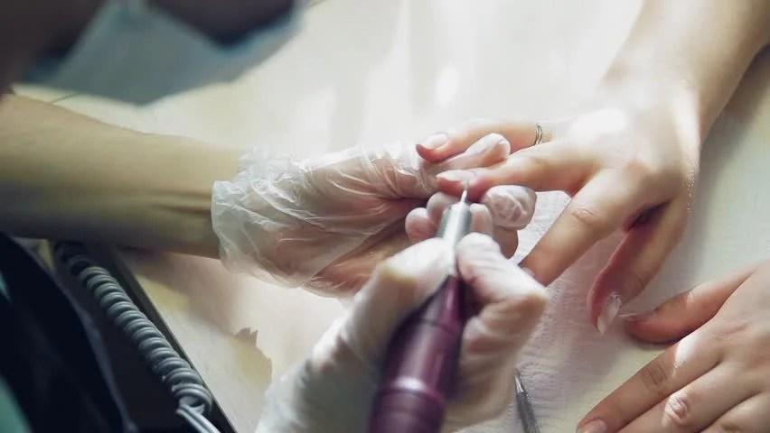 Nail Salon The Work Of Artist Hd Stock Clip