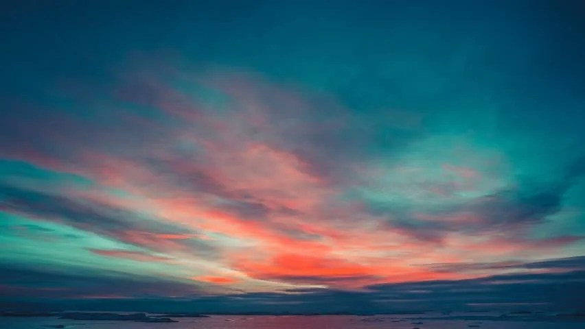 Iphone Collage Wallpaper Maker Antarctic Nature Beautiful Colorful Sunset Stock Footage