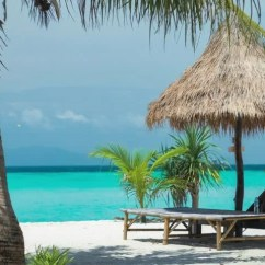 Beach Chairs And Umbrella Folding Chair Stand Palms Stock Footage Video 100 Royalty On The Tourist Arriving With An Speedboat Koh Lipe Island Thailand Asia