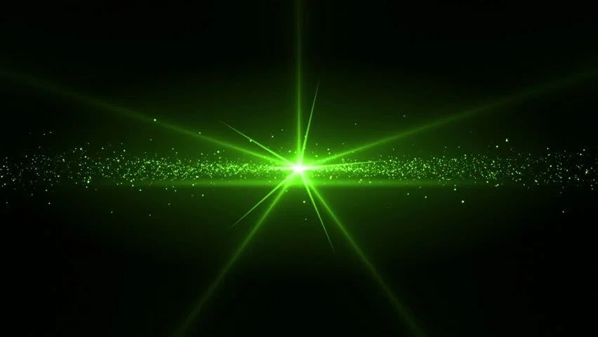 Animated Stars Wallpaper Animation Of A Green Star Stock Footage Video 100