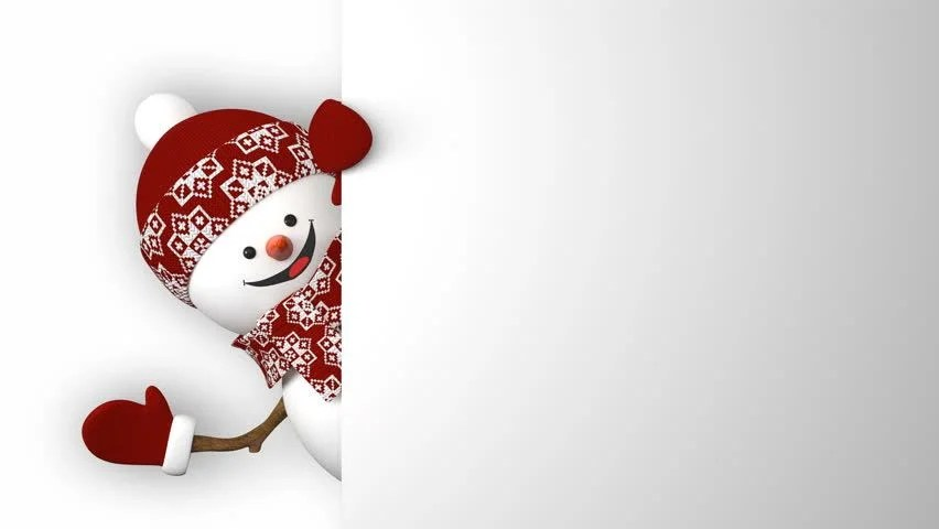 Snowman With Hat And Scarf Image Free Stock Photo