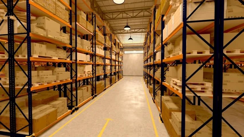 Warehouse Interior 3d Loopable Animation Stock Footage Video 100 Royaltyfree 3633008