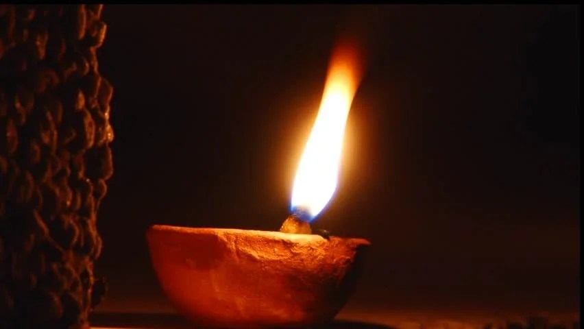 Animated Fire Wallpaper Small Oil Lamp Stock Footage Video 100 Royalty Free