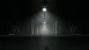 prison jail ominous cell dark footage shadow bars night door corridor lights cells shutterstock concrete closing floor eerie 4k sentence