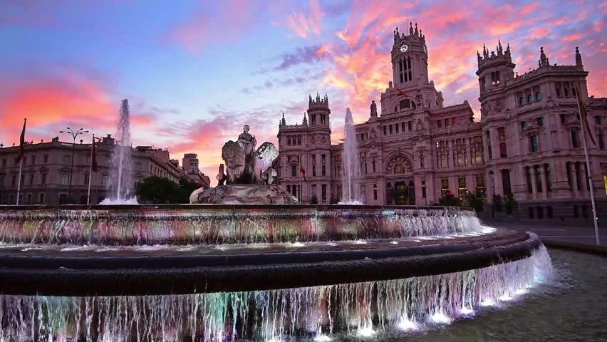 Animated Gif Desktop Wallpaper Madrid Spain At Communication Palace Stock Footage Video